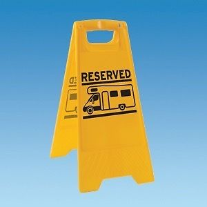 Motorhome Reserved Pitch Sign