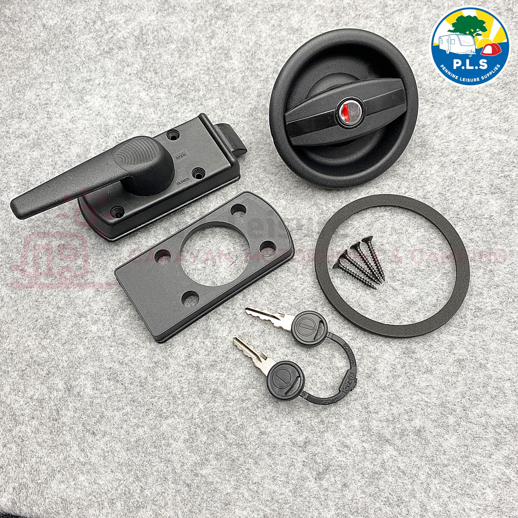 Vecam / Zadi Caravan Door Lock c/w Barrel - Left Hand PO391